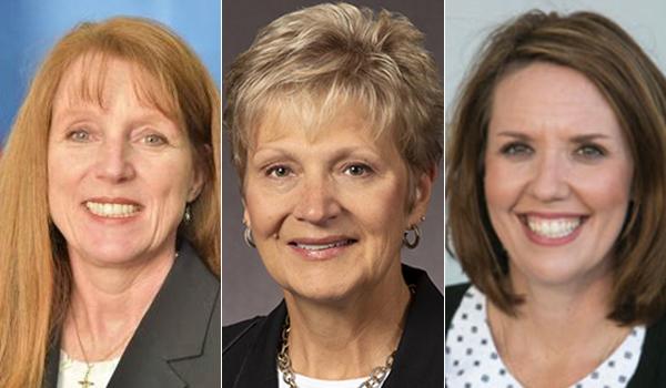 Brenda Burke, DNP '15; Lynn F. Lenker, MS '95; and Sarah Overton, MS '17, BSN '10